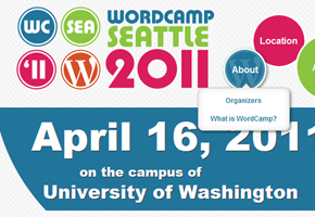Thumbnail of WordCamp Seattle 2011 website.