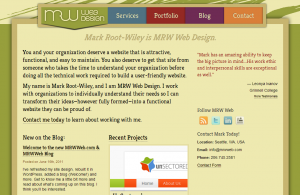 A screenshot of the new MRW Web Design website homepage.