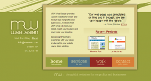A screenshot of the old mrwweb.com