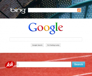 Bing, Google, and Ask