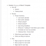 Screenshot of Weekly Review in WorkFlowy