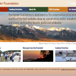 Screenshot of Harder Foundation Homepage