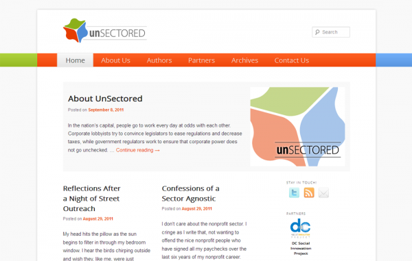 A screenshot of UnSectored.net