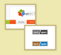Thumbnail of UnSectored.net and two SlashOpen.net Badges