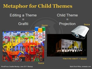 A screenshot of the sixth slide of my presentation on WordPress child theming
