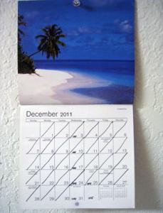 A December 2011 wall calendar page