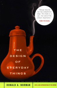 This bookcover shows a teapot with the spout directly above the handle.