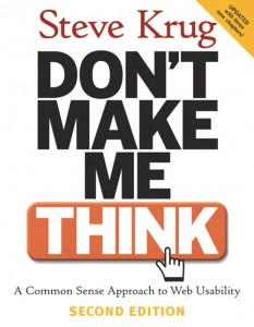 The cover of Don't Make Me Think by Steve Krug