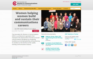 Screenshot of the new AWC site