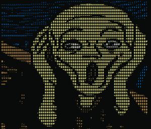 The Scream in ASCII art