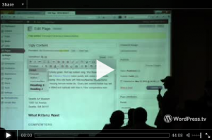 """WYSIWHA!?"" presentation video on WordPress.tv"