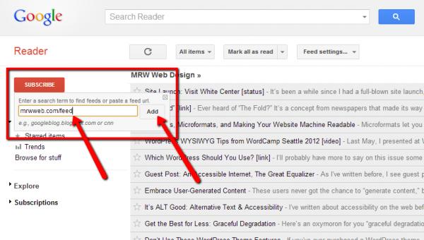 The Google Reader Subscribe Button