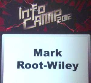 Mark Root-Wiley's InfoCamp 2012 Name Tag