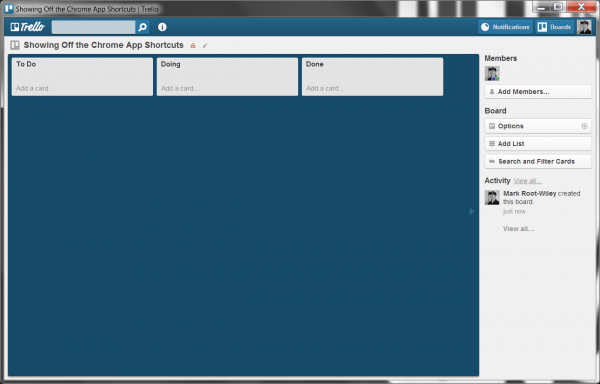 Trello in a Application Window