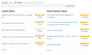 Screenshot of WordPress.org's Ideas section