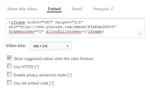 YouTube Embed Code Generator
