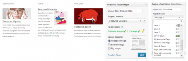 Feature a Page Widget Banner