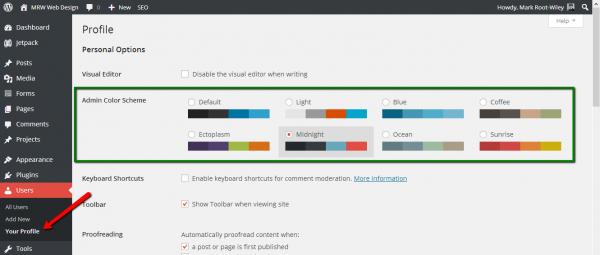 WordPress 3.8 Color Scheme Chooser