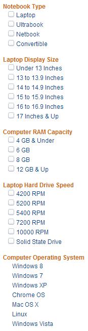 Amazon Laptop Taxonomies