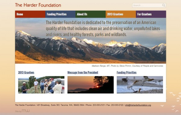 New Harder Foundation Website