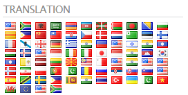 List of Flags to Select Translation Language