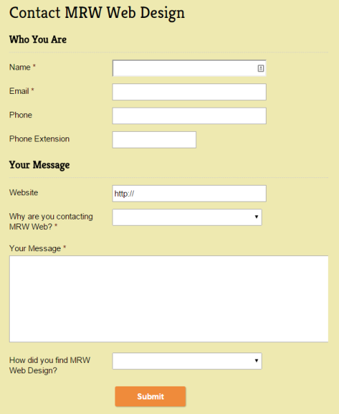 My contact form