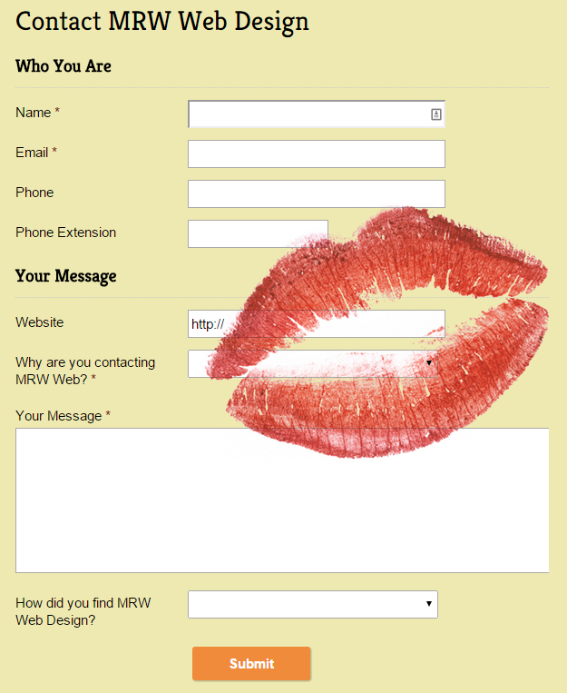 KISSing Your Web Forms | Blog | MRW Web Design