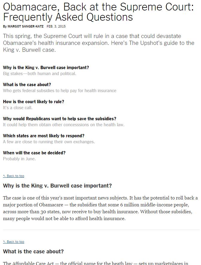 King v. Burwell FAQ on Upshot Blog