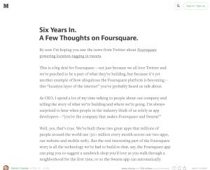 Screenshot of article on Medium.com