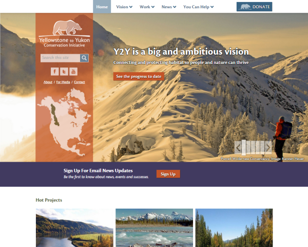 Yellowstone to Yukon home page