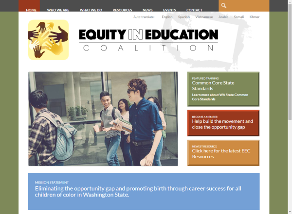 Equity in Education Coalition Home Page