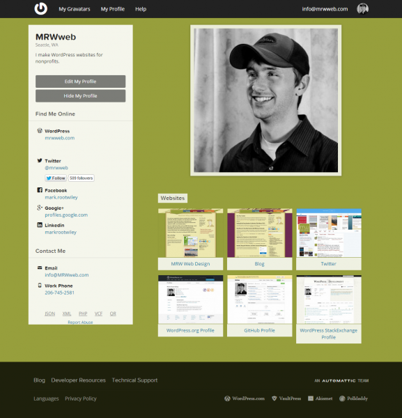 The MRW Web Design Gravatar Profile