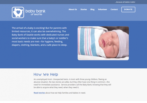 Baby Bank of Seattle Home Page