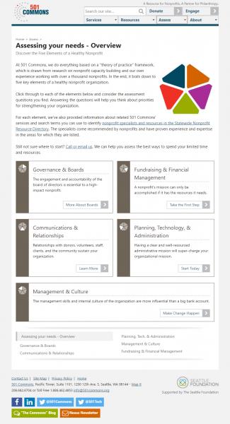 501 Commons Landing Page, Medium Screen