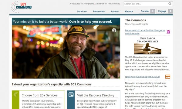 Refreshed 501 Commons Home Page