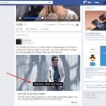 Screenshot of captioned Facebook video ad
