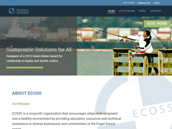 ECOSS.org home page