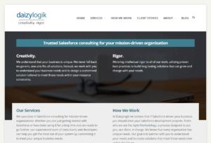 Screenshot of Daizy Logik Home Page