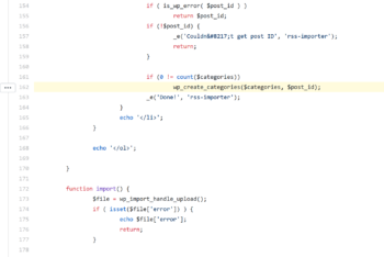 A highlighted line of code that needs to change