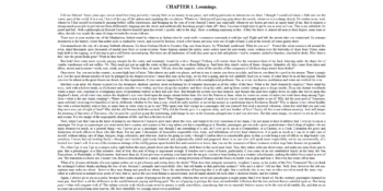 Screenshot of Moby Dick Chapter 1 on Gutenberg.org. The layout has text at 200 characters per line