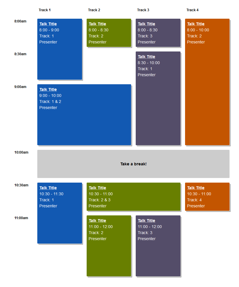 WordCamp Schedule featured in CSS Tricks Guest Post