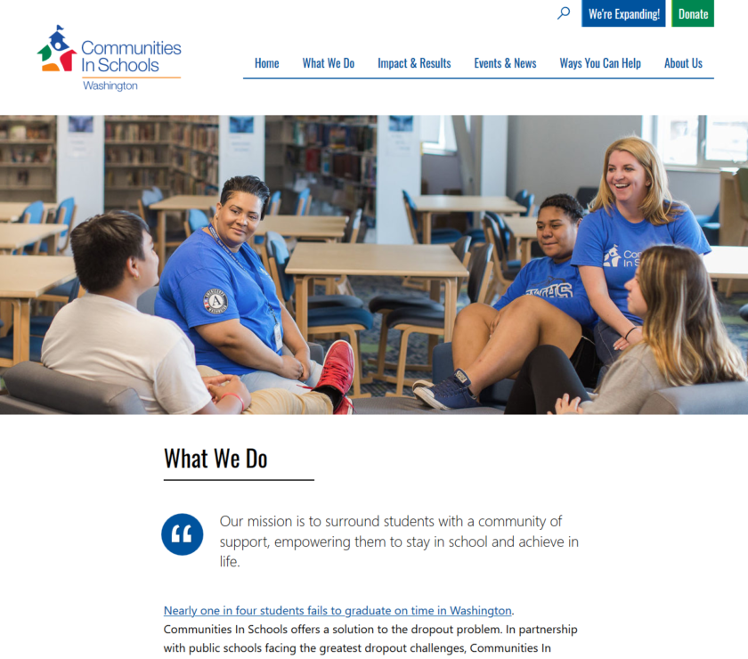 "The ciswa.org ""What We Do"" page"