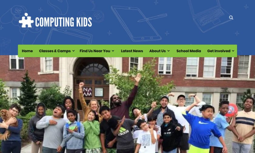 Computing Kids website homepage