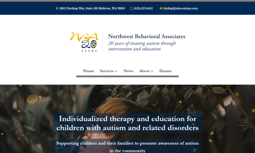 Northwest Behavioral Associates website home page