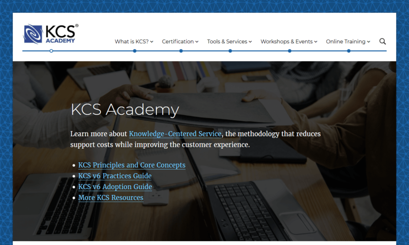 Homepage of The KCS Academy Website
