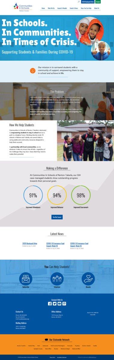 Home page of Communities in Schools Renton-Tukwila