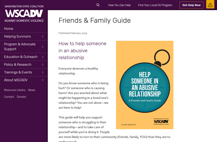 WSCADV.org Friends and Family Guide