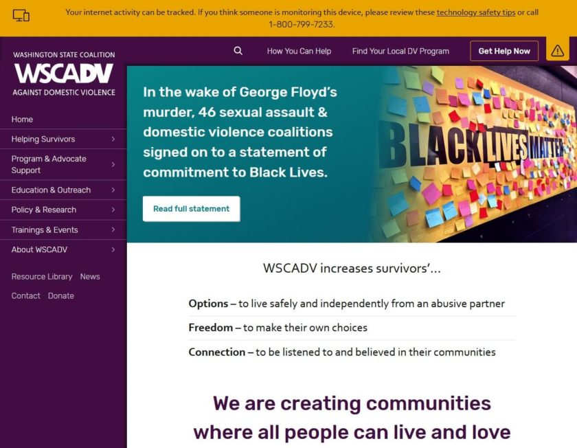 Top of WSCADV.org home page