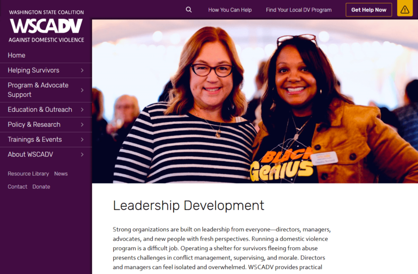 WSCADV.org Leadership Development Page