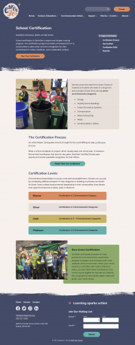 EarthGen Certification Page on Large Screen